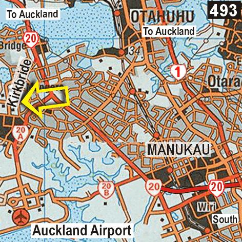 Map - Airport  Skyway Lodge