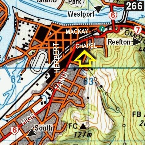 Map - Noahs Ark Backpackers