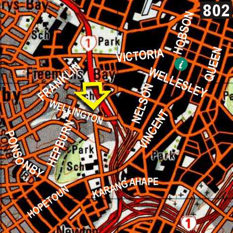Map - Freemans Backpackers