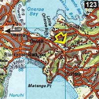 Map - Hekerua Lodge Backpackers