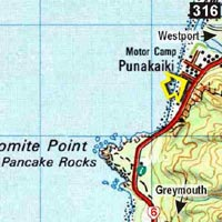 Map - Punakaiki Beach Hostel