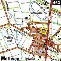 Map - Mt Hutt Bunkhouse and Lodge