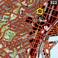 Map - Central Backpackers Dunedin