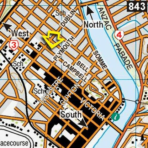 Map - College House Backpackers