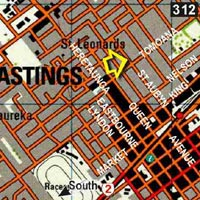Map - Travellers Lodge Hastings