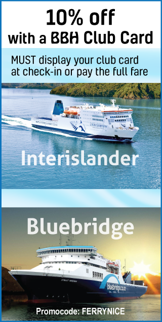 Cook strait Ferries BBH club card offer